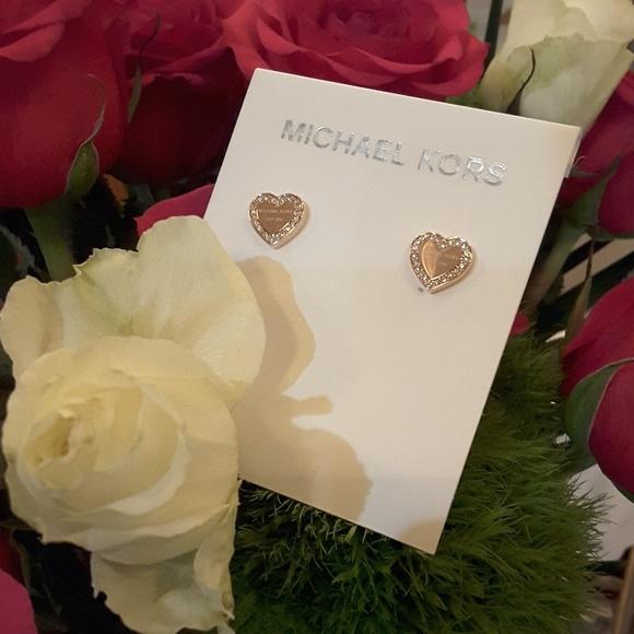 034d2891d Michael Kors Jewelry | Rose Gold Heart Stud Earrings Nwt | Poshmark